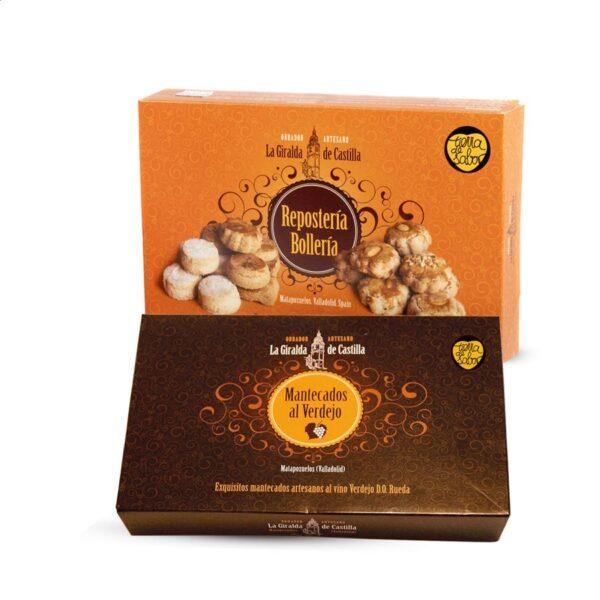 La Giralda de Catilla - 1 caja de Pastas de piñón + 1 caja de Mantecados al verdejo